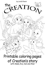 creation bible coloring page free download at free printable pages