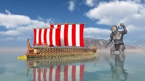 Greek Flag Background Greek Mythological Story Of Odysseus And The Cyclops