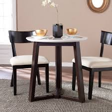 southern dining rooms southern enterprises kyro round modern dining table 2 tone