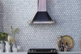 Kitchen With Hex Backsplash Design Ideas