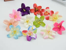 silk orchids 7cm 100pcs artificial fabric phalaenopsis orchid heads real touch