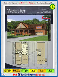 webster rochester modular home cape cod multi level plan price