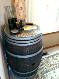 diy wine barrel bar side table elastic is my friend