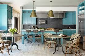 Turquoise Kitchen Cabinets Interiors By Color  Interior - Turquoise kitchen cabinets