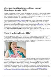 Bed Eating Disorder When You Can U0027t Stop Eating A Closer Look At Binge Eating Disorder B U2026