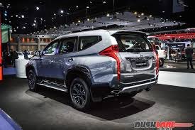pajero mitsubishi new mitsubishi pajero sport showcased at 2017 bangkok motor show