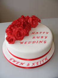 ruby wedding cakes anniversary littlecakecharacters stoke on trent cake maker
