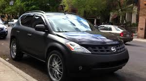 black nissan rogue 2014 matte black nissan murano in montreal youtube