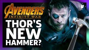 what the hell is thor s new infinity war hammer youtube