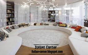Italian Living Room Designs Ideas With Round Sofas Interior Designs - Italian living room design