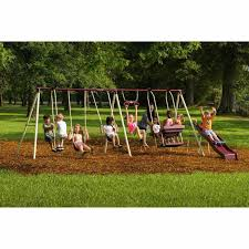 playground sets for backyards flexible flyer fun time metal swing
