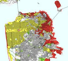 san francisco land use map what parts of san francisco are built on land fill