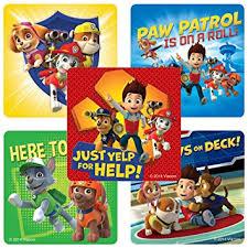 amazon paw patrol stickers birthday theme party
