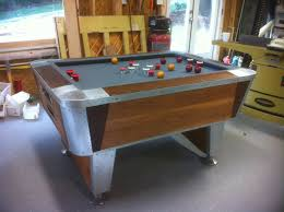 just finished redoing a 1960 u0027s lee valley bumper pool table the
