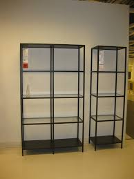 Glass Bookshelves by Furniture Fascinating Bookshelves Metal To Prettify Your