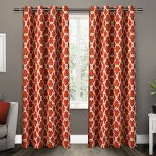 And Orange Curtains Orange Curtains Drapes You Ll Wayfair