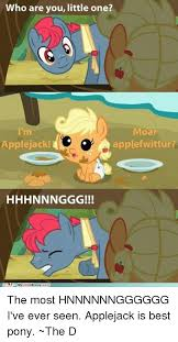Hhhnnnggg Meme - 25 best memes about applejack is best pony applejack is best