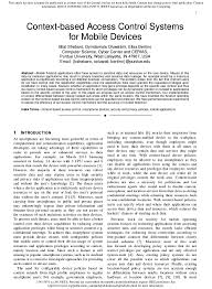 how to write an ieee paper ieee project 2014 2015 context based access control systems