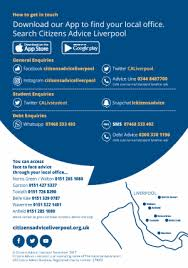 Search For Your Local Citizens Advice Citizens Citizens Advice Liverpool Launch App And Debt Advice Helpline