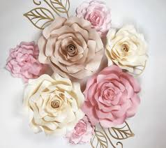 paper roses large paper roses for nursery wall decor weddings or events