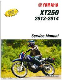 2013 u2013 2017 yamaha xt250 motorcycle service manual