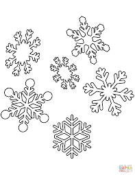 snowflakes coloring free printable coloring pages
