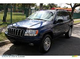blue jeep grand cherokee 2003 jeep grand cherokee limited 4x4 in patriot blue pearl