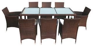 Garden Sofa Dining Set Vidaxl 17 Piece Garden Furniture Set Black Poly Rattan Tropical