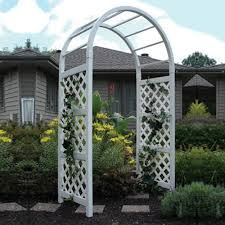 Trellis Rental Wedding Somerset 7 5 Ft Vinyl Arch Arbor Hayneedle