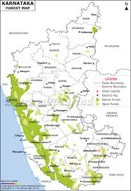 India States Map Forest Map Of Karnataka