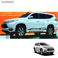 mitsubishi pajero sport 2017 fitt chrome side body molding cover for mitsubishi montero pajero