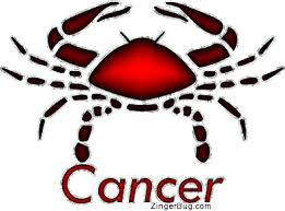Cancer Horoscope Memes - red cancer astrology sign glitter graphic comment colleens home