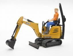 bruder jcb micro excavator with man minds alive toys crafts books