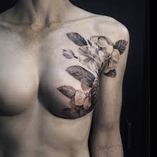 tattoo artist beautifully conceals scars of breast cancer survivors