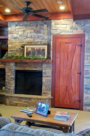 interior good looking black stone fireplace ideas with yellow