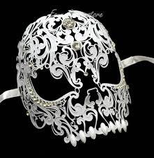 laser cut masquerade masks new unisex all metal skull mask laser cut venetian