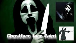 kids face paint scream mask ghost face youtube