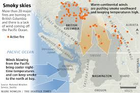 map of oregon smoke why so much smoke in seattle from b c wildfires nature s air