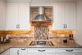 walnut travertine backsplash distinctive design in naperville