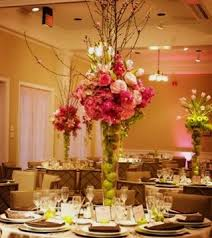 Flower Arrangements For Tall Vases Wedding Flower Wedding Candles Wedding Decorating Table