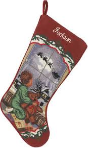 sferra needlepoint stocking traditional holiday stockings 2012