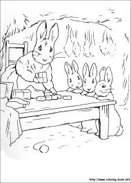 rabbit coloring picture