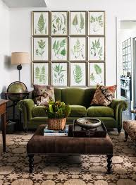 green living room chair color on trend deep mossy olive green interiors living rooms