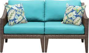 Outdoor Wicker Settee Cushions by Manhattan Outdoor Wicker Loveseat With Cushions U0026 Reviews Allmodern