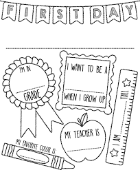 first day of sign coloring page crayola com