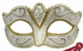 costume masks silver metallic painted venetian costume mask