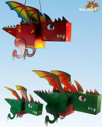 paper dragons kuboid printable paper dragons allfreepapercrafts