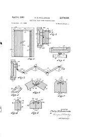 Kinkead Shower Door Parts by Patent Us2978020 Multiple Slat Type Folding Door Google Patents