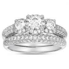 White Gold Wedding Rings For Women by Wedding Fiancee Engagement Ring For Her Wedding Band White Gold