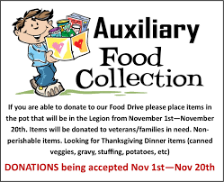 donate food for thanksgiving food collection u2013 american legion cherry hill nj post 372